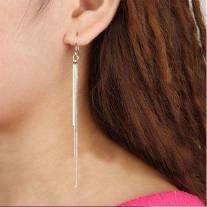 NEW 925 Sterling Silver Tassel Chain Drop Earrings